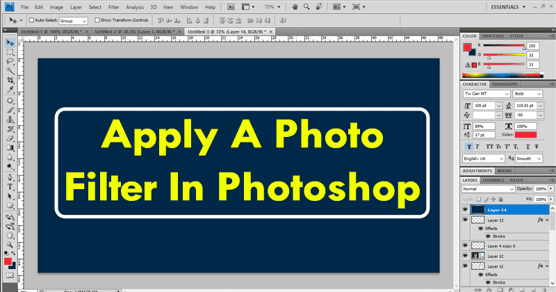How To Apply A Photo Filter In Adobe Photoshop