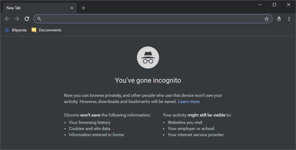 Check On Incognito Mode