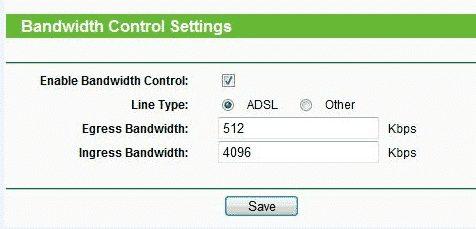 Bandwidth Control Settings