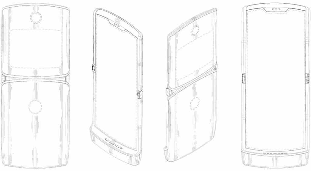 Moto 1 1024x564 - Motorola RAZR Foldable Smartphone Design Leaked