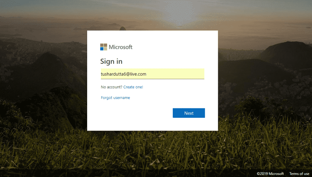 Step 1 Login 1024x583 - How To Turn On 2-Step Verification For Microsoft Account