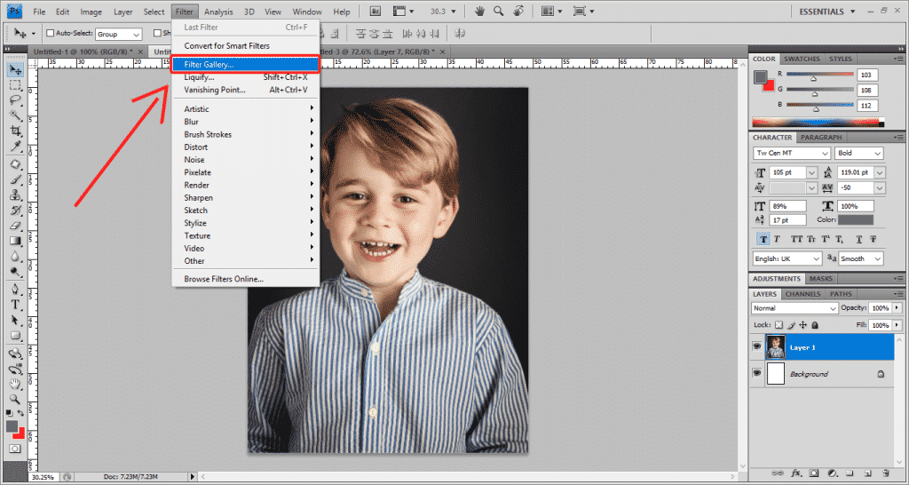 Step 6 Photoshop 1024x546 - How To Apply A Photo Filter In Adobe Photoshop