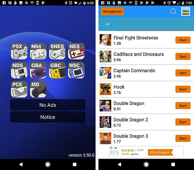 Arcade Games - 10 Best Android Emulators For Retro Games