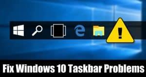 8 Easy Methods To Fix Windows 10 Taskbar Problems