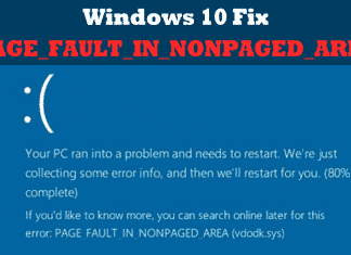 How To Fix PAGE_FAULT_IN_NONPAGED_AREA Blue Screen Error