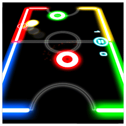 Glow Hockey - 10 Less-Known Apps For Android With More Than 100 Million Downloads