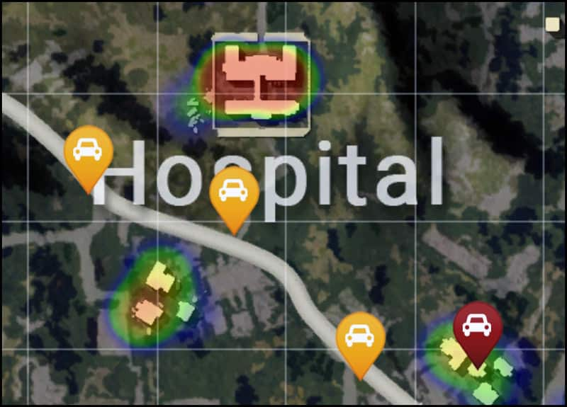 Image result for pubg Hospital on erangel map