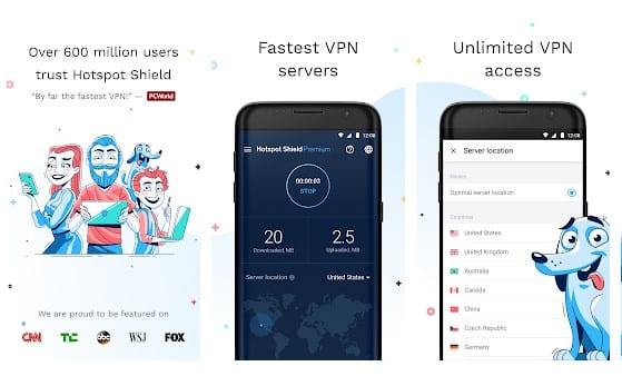 Hotspot Shield VPN y Proxy