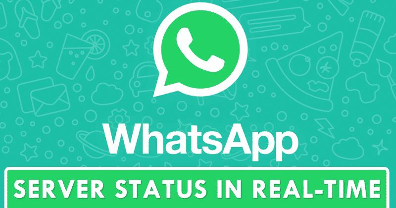 كيف تعرف حالة خادم WhatsApp في الوقت الحقيقي