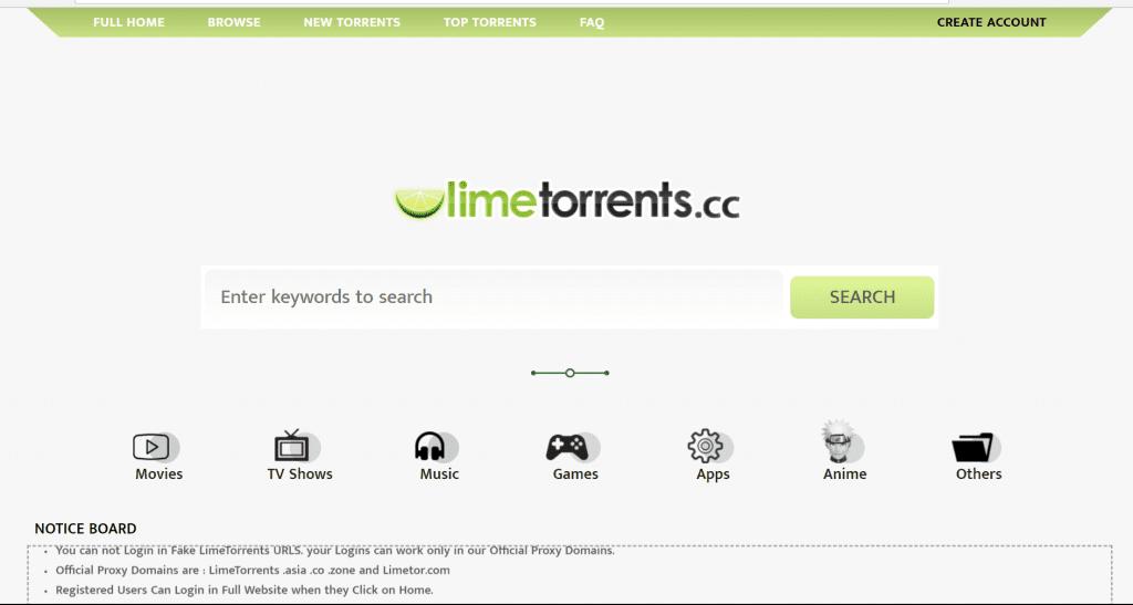 LimeTorrents 1024x547 - Top 10 Most Popular & Active Torrent Sites Of 2019 (100% Working)