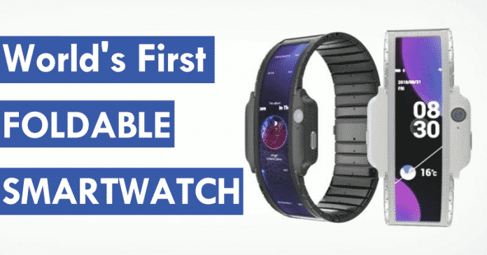 Meet The World's First Foldable Smartwatch