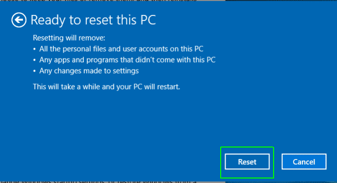 Reset Your Windows 10 Computer
