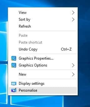 Check Desktop Icon Settings