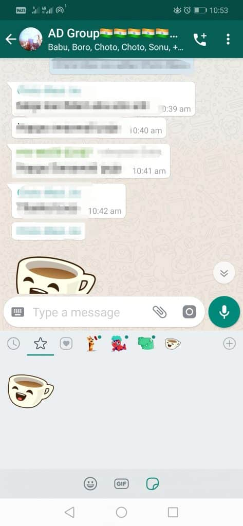 Step 2 W 473x1024 - How To Save The Stickers Sent By Others On WhatsApp?