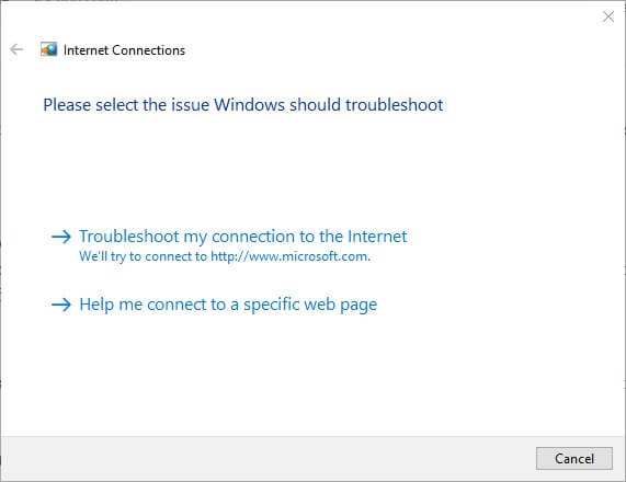 Use Network Troubleshoot