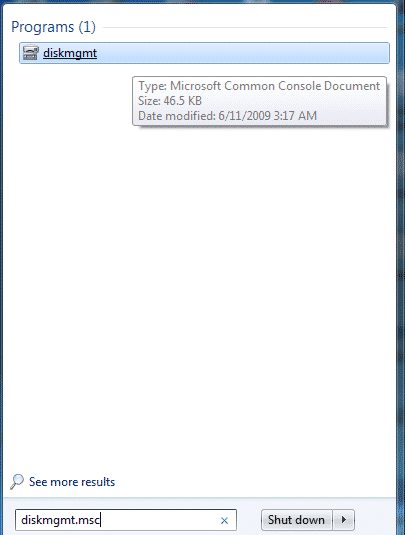 Using Disk Management Utility