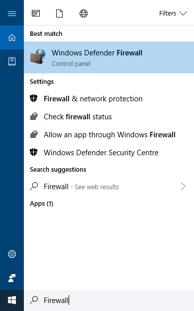 Windows Step 1 - How To Disable Firewall On Windows 8, 8.1, 10 Operating System