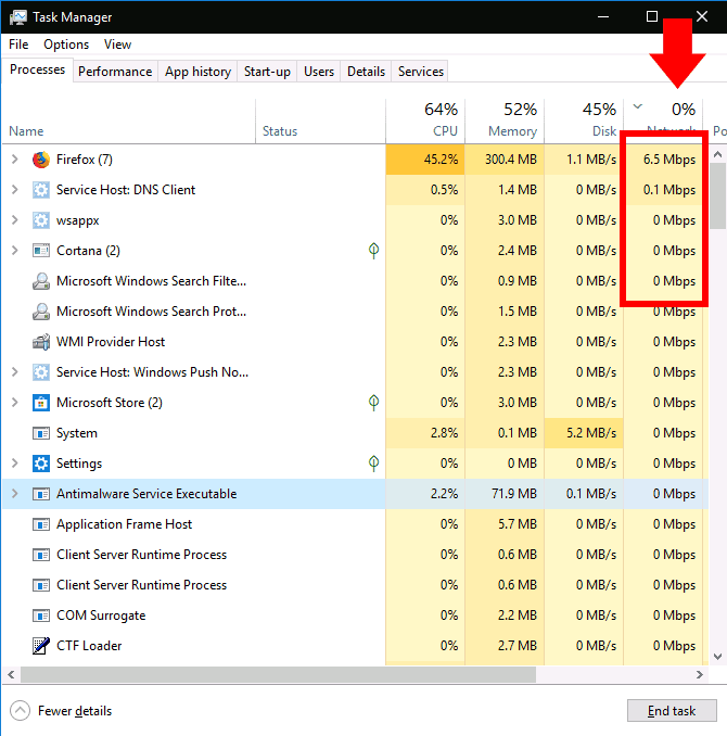 Check the Task Manager