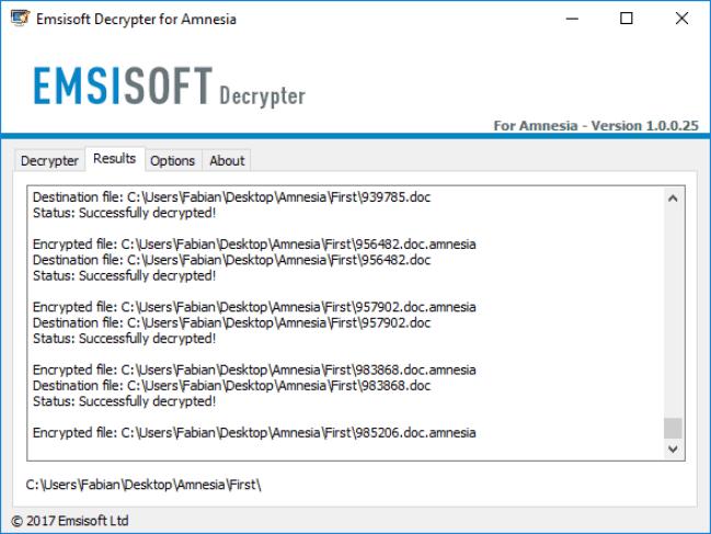 Emsisoft Ransomware Decryption Tools