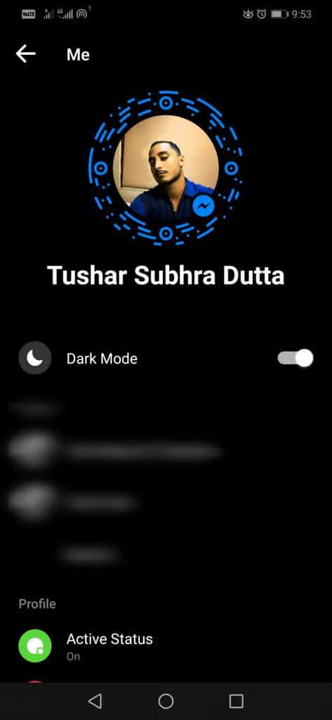 FB Step 2 473x1024 - How To Activate The Dark Mode In Facebook Messenger (No Root)