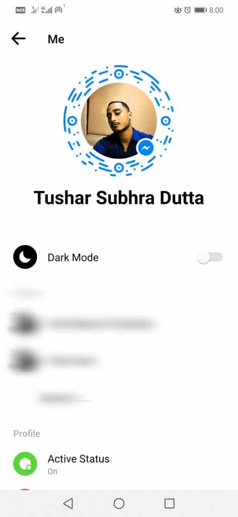 FB step 1 473x1024 - How To Activate The Dark Mode In Facebook Messenger (No Root)