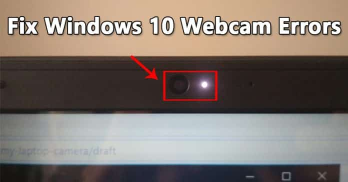 How To Fix Webcam Error Code 0xa00f4243 On Windows 10