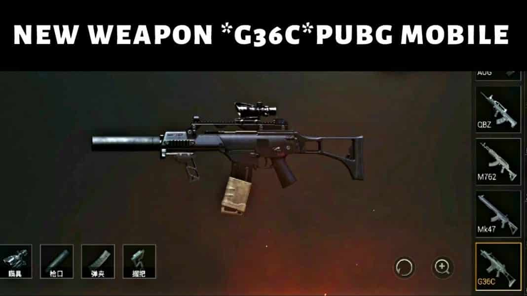 G36C New Gun Pubg mobile