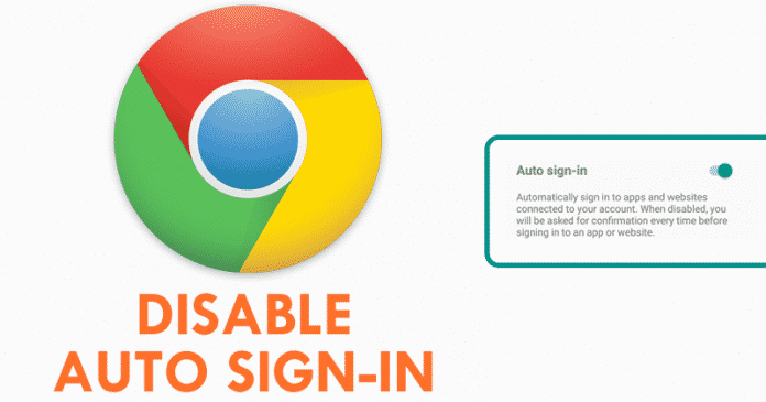 How To Disable Chrome's Auto Sign-in For Apps & Websites On Android