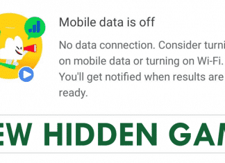 No internet? The Google App Has A New Hidden Game