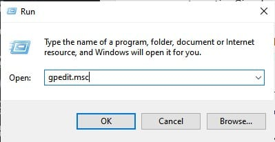 search for 'gpedit.msc' on the RUN dialog box
