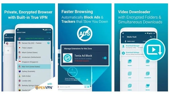 Tenta Private VPN Browser