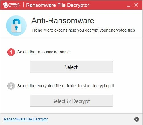 Trend Micro Lock Screen Ransomware Tool