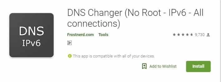 Install DNS Changer