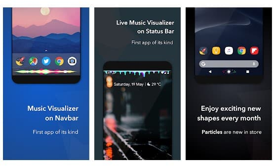 Add Music Visualizer On Navigation Bar