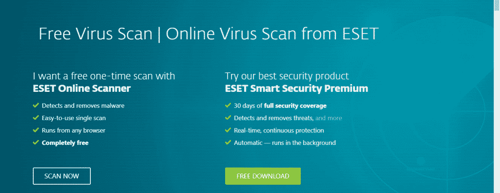 ESET Online Scanner 1024x397 - Top 10 Most Reliable Free Online Antivirus Tools in 2019