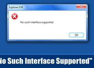 "How To Fix ""No Such Interface Supported"" Error Message"
