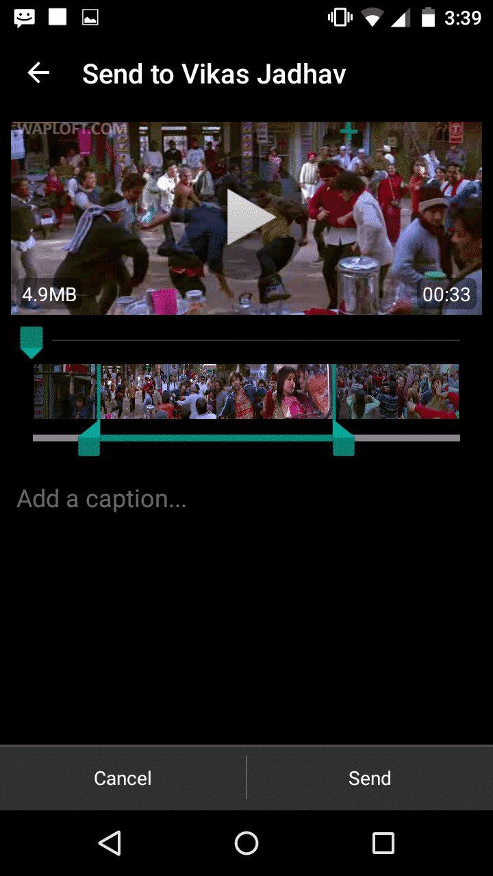 Use the Inbuilt Video Splitter of WhatsApp
