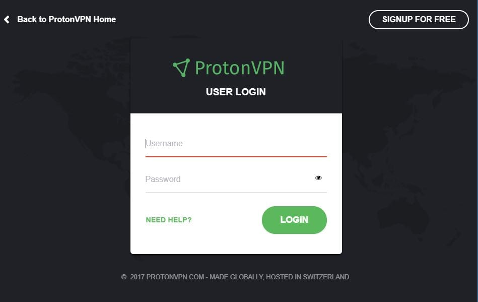 Check Your Login Credentials