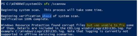 Run Windows System File Checker