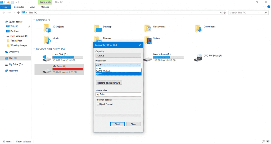 Step 4 1024x546 - How To Format By Changing The Format Type Of A USB Drive
