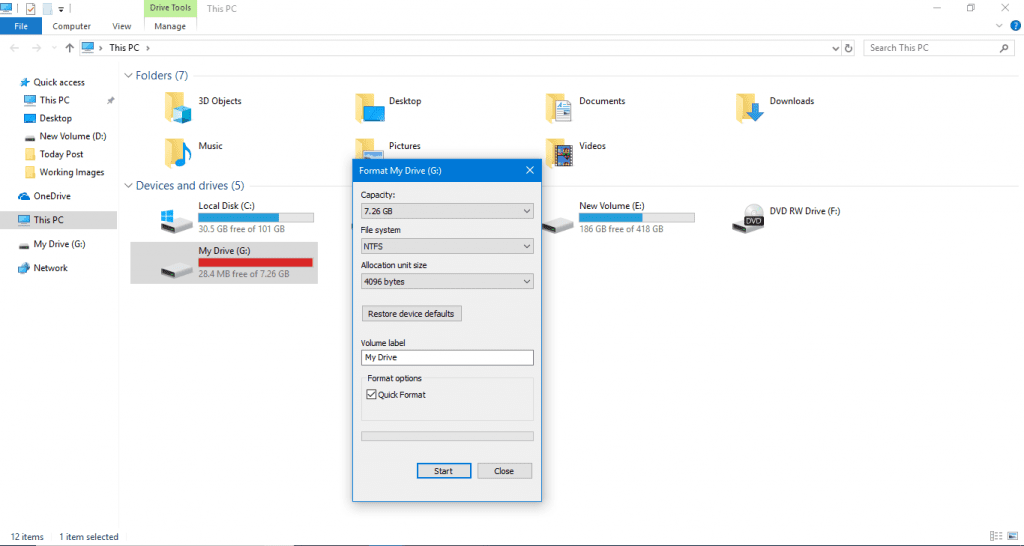 Step 5 1024x546 - How To Format By Changing The Format Type Of A USB Drive