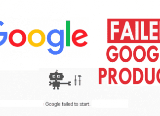 Failed Google Products