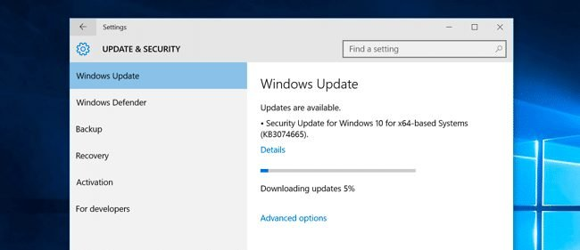 Update Your Operating system
