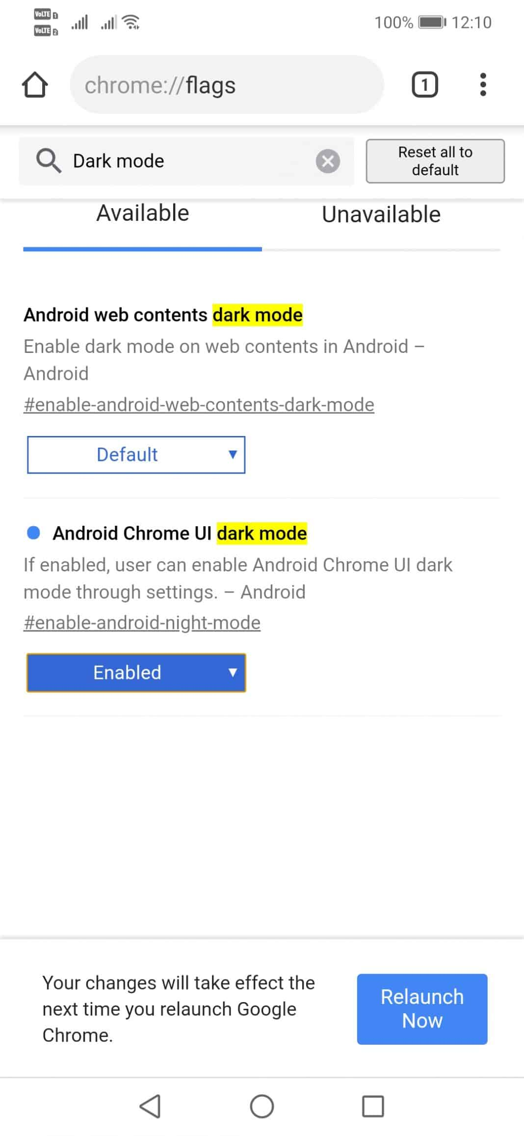 Activate The Hidden Dark Mode On Chrome For Android