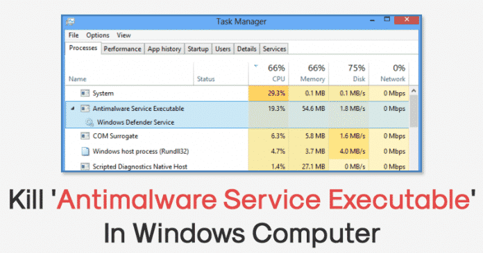 How To Kill 'Antimalware Service Executable' In Windows 10