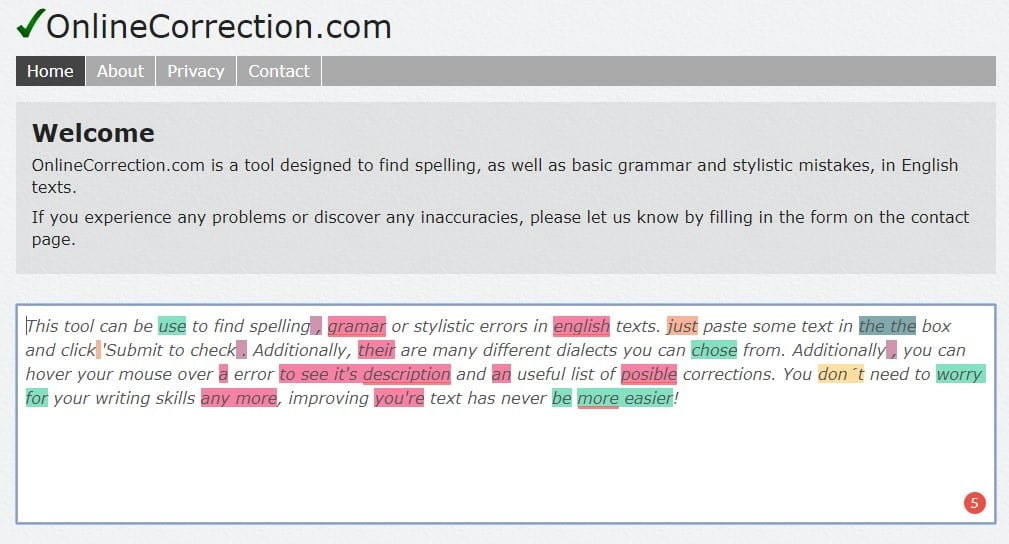 Online Correction