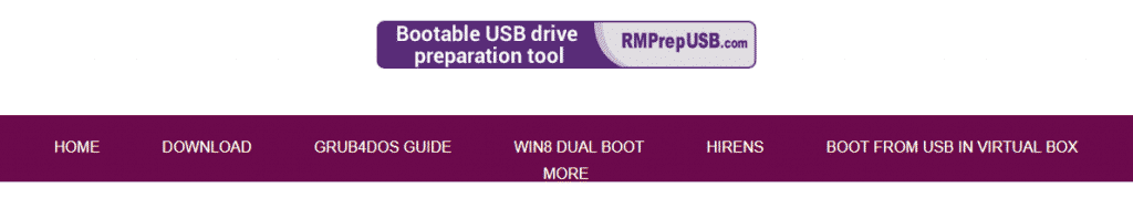 RMPrepUSB 1024x179 - Top 11 Best Bootable USB Tools For Windows, Linux and MAC OS
