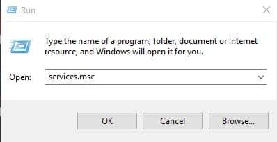 Restart the Windows update services