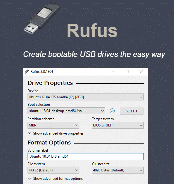 Rufus - Top 11 Best Bootable USB Tools For Windows, Linux and MAC OS