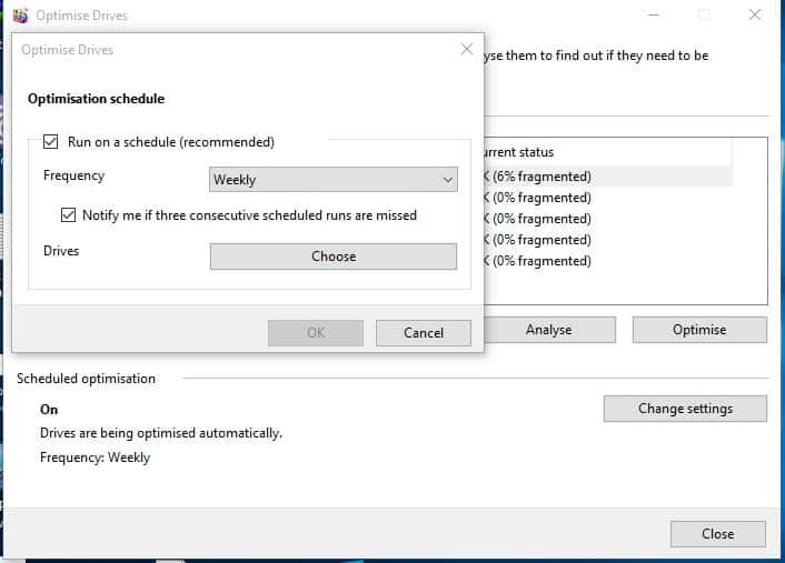 Schedule Disk Defragmenter Using Its Application